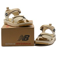 New Balance Woman Men Fashion Leather Sandals Flats Shoes-3