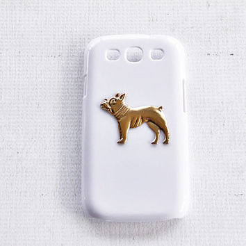 Rusitc Galaxy S3 Unique Dog Animal Frenchie Phone Case Cell Phone Mobile Accessories Etsy Gold and White Color Hard Cases Phone Covers Gold