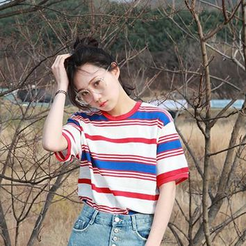 Summer Harajuku Striped T-shirt