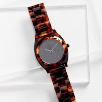 Nixon Time Teller Acetate Tortoiseshell Watch | Urban Outfitters