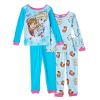 Disney's Frozen Elsa, Anna & Olaf Pajama Set - Toddler Girl, Size: