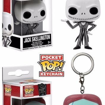 Funko Pop Pocket Jack AND Sally Keychain Nightmare Before Christmas