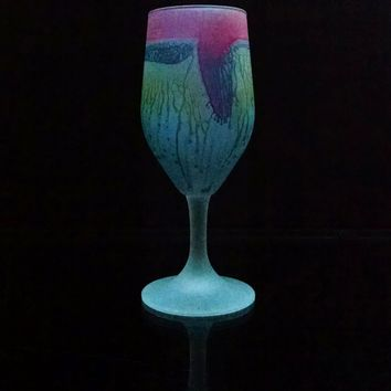 Lipstick Love Blues drinking glass Tulips _ Own&Adore
