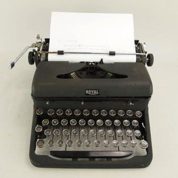 Vintage Royal Arrow Typewriter by longbarnmercantile on Etsy
