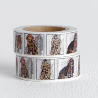 Dog Portraits Washi Tape with Collie, Bulldog, Basset Hound, Airedale, Golden Retriever, Yellow Labrador, and Springer Spaniel, 15mm x 10m