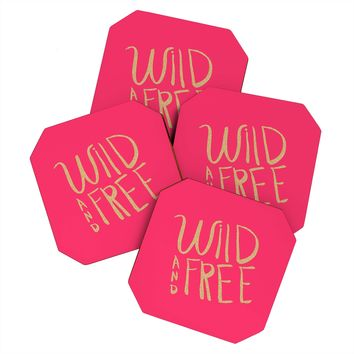 Allyson Johnson Wild and free glitter Coaster Set