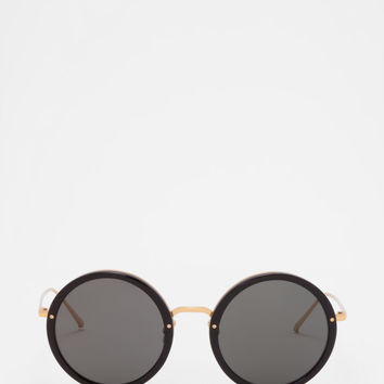 Linda Farrow - LFL 239 Black Sunglasses