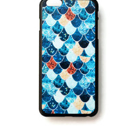 iPhone 6 Plus Case Geometric Pattern iPhone 6 Plus Hard Case Fish Scales Back Cover For iPhone 6 Slim Design Case Abstract Blue 6277