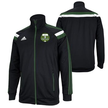 Portland Timbers adidas 2014 Authentic Anthem Jacket - Black - FINAL SALE - Portland Timbers