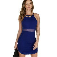 Royal A-game Bodycon Dress