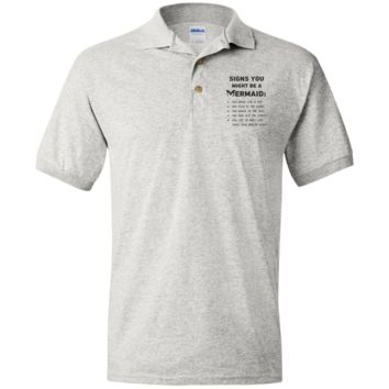 Signs You Might Be A Mermaid Jersey Polo Shirt