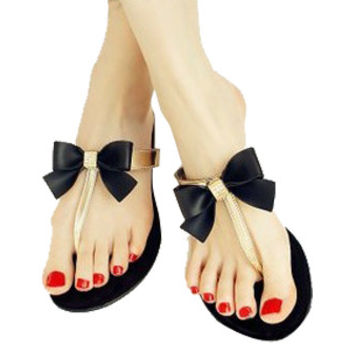 ba079a4f44d10 Bow Thong Jelly Shoes Woman Jelly Flip from Dream Girl