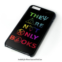 Divergent Hunger Game Harry Potter Book Quotes Design for iPhone and iPod Touch Case