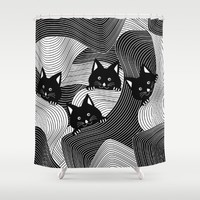 Hidden Kitties Shower Curtain by UMe Images