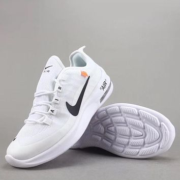 Trendsetter Off White X Nike Air Max Axis Women Men Fashion Casual  Sneakers Sport Shoes