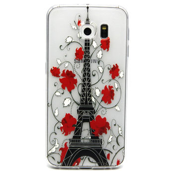Ultra Thin Transparent Silicone Case for Samsung Galaxy S6 (Eiffel Tower)