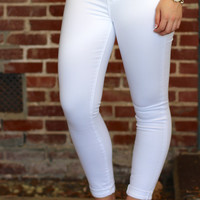 Articles of Society: Karen Rolled Skinny Jean {Optic White}