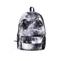 FINEJO Women's Spiral Galaxy Backpack CeLestial Bookbag
