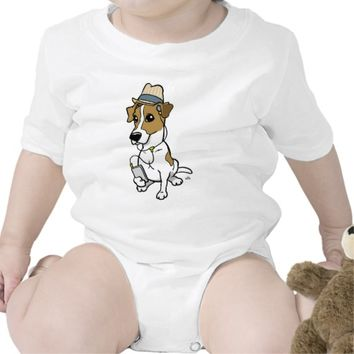 Hipster-Jack cartoon Romper