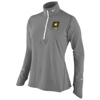 Army Black Knights Nike Women's Element Training Performance Shirt – Gray