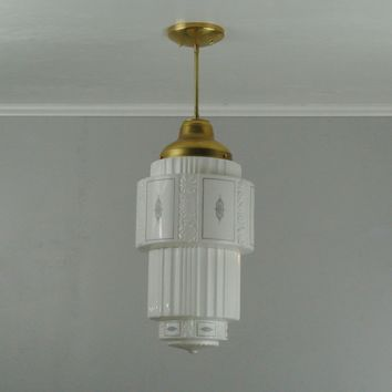 Large Vintage Skyscraper Pendant Light