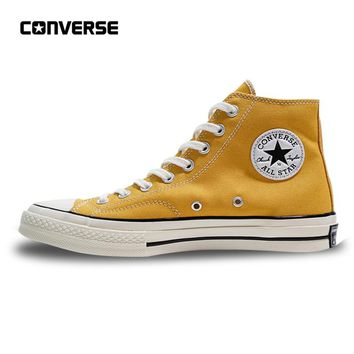 Converse All Star 1970S Men Women's Sneakers Canvas Shoes High Classic 162054C Yellow 35-44
