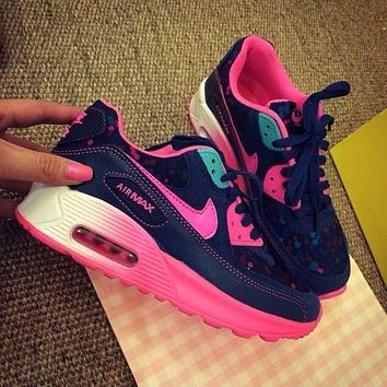 Sale Nike Air Max 90 Pink Purple Gradient Gradient Rose Running Shoes Sport Shoes