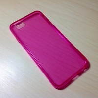 For Apple iphone 6 (4.7 inches) Transparent TPU Soft Silicone case - Rose Pink