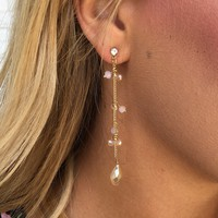 Sweet Dainty Lucite Bead Drop Earrings