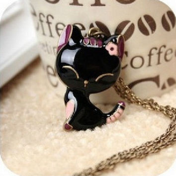 korean version lusty cat necklaces pendants 2014 luxury womens costume jewelry sets
