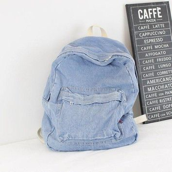 University College Backpack European Retro Cowboy  Literary  Wind Canvas  Simple Solid Color Couple Large-capacity Trave BagAT_63_4
