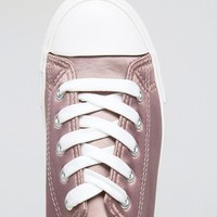 New Look Satin Lace Up Sneaker at asos.com