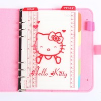 Cute PVC 6 holes ruler for spiral notebook,classic diary weekly planner bookmark ruler accessories stationery A5 A6