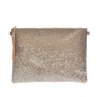 Insta Glam Metallic Clutch - Gold