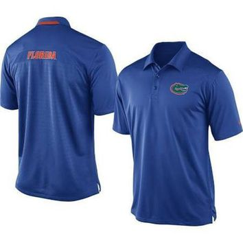 ONETOW NCAA Florida Gators Nike Dri-Fit Royal Blue Assistant Coaches Polo