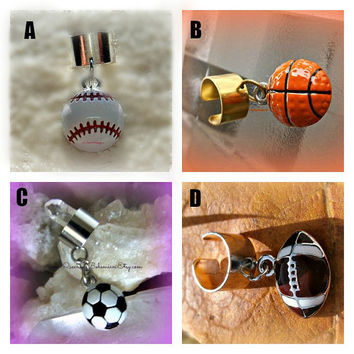 CHOOSE ONE Sports Ear Cuff Baseball,Softball,Baskettball,Soccer,Football,Sports jewelry,Cartilage Earrings,Ready to Ship,Direct Checkout