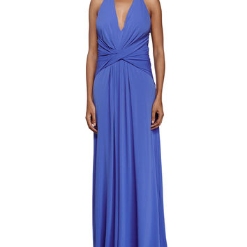 Crisscross Front Evening Gown, Bluebell, Size: