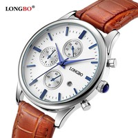 Luxury Quartz Watches Leather Men Wristwatches Sports Date Calendar