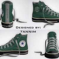 Custom Harry Potter House Slytherin Converse Chucks by Tannim
