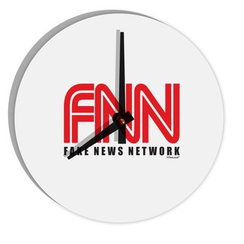"""Fake News Network Funny 8"""" Round Wall Clock  by TooLoud"""