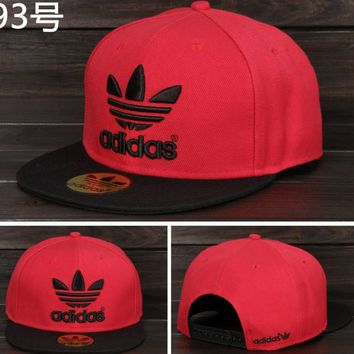 Adidas Performance Max Side Hit Baseball Cap Golf Hat Relaxed Fit Red black logo