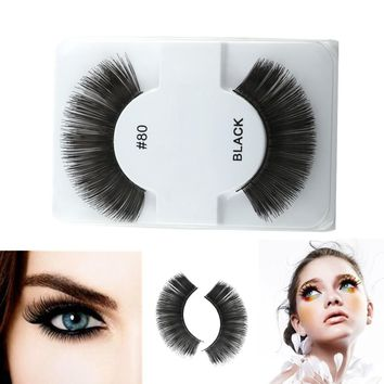 1 pair Sexy Messy False Eyelashes Pure Handmade Cotton Stalk Water Mink Fake Eyelashes Daily Makeup Tools Eye Lashes