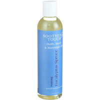 Soothing Touch Bath Body And Massage Oil - Purifying - Eucalyptus Spruce - 8 Oz