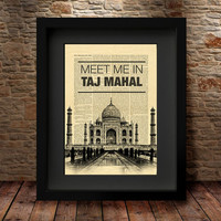 Taj Mahal Wall Art , india print ,india decor ,Taj Mahal Travel Poster ,Taj Mahal art, Taj Mahal print, Travel Poster, Wall Print Decor - 44