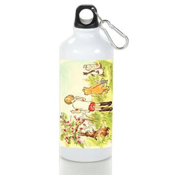 Gift Sport Bottles | Winnie The Pooh Illustration Aluminum Sport Bottles