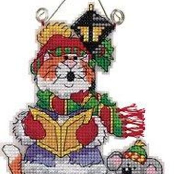 Counted Cross Stitch Kit  Cat and Mouse Christmas Tree Ornaments Gift Dim 73414