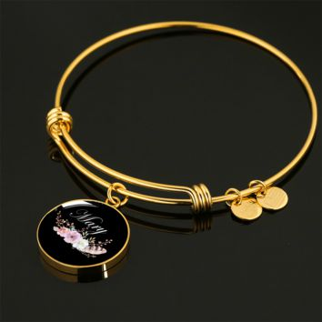 Mary v8b - 18k Gold Finished Bangle Bracelet
