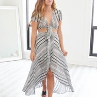 PURE BLISS TWO-PIECE MAXI DRESS
