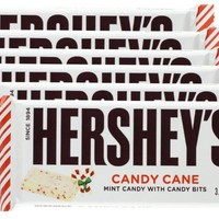 Hershey's Candy Cane Mint Candy with Candy Bits Candy Bar, 1.55-Ounce Bar (Pack of 6)