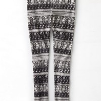 AEO Women's Printed Stripe Legging (Black)